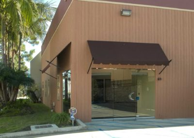Commercial-awning-Brown