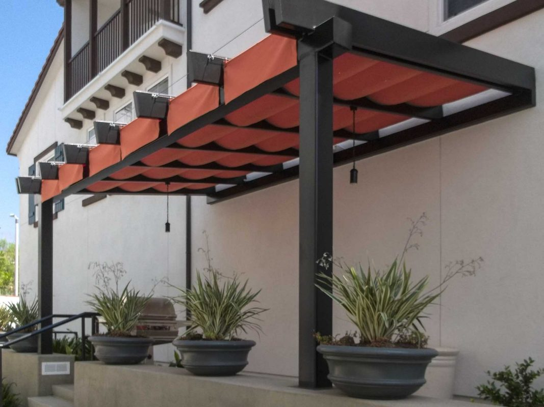 Slide on Wire Retractable Awnings - Custom Made - The ...