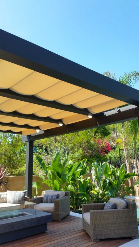 Slide On Wire Retractable Awnings Custom Made The Awning Company